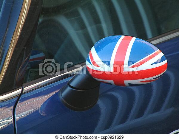Stock fotografien von britisch auto fl gel spiegel for Spiegel und fahne