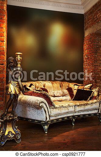 candlestick and sofa - csp0921777