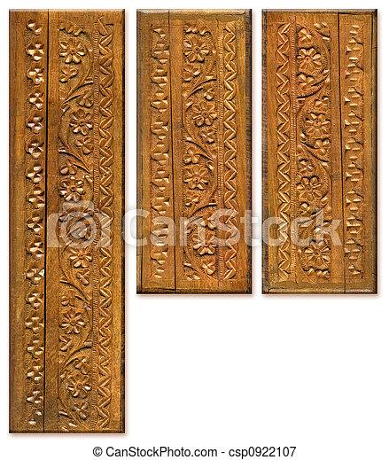Wood Carving Pattern Design Elements - csp0922107