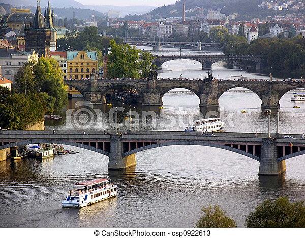 Prague Vlatava River - csp0922613