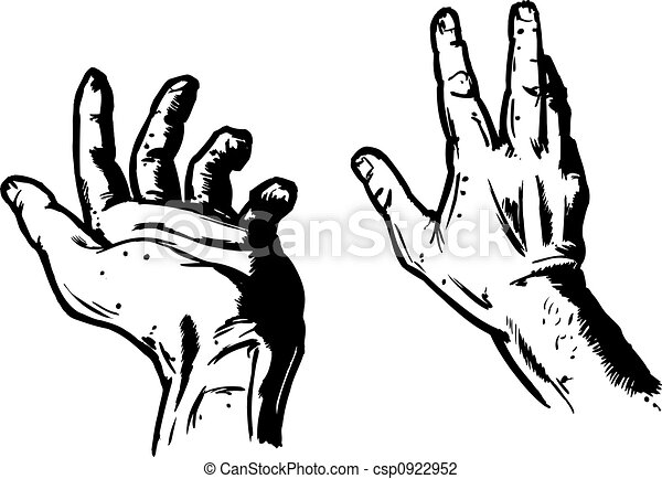 Hands In Fear Expression - csp0922952
