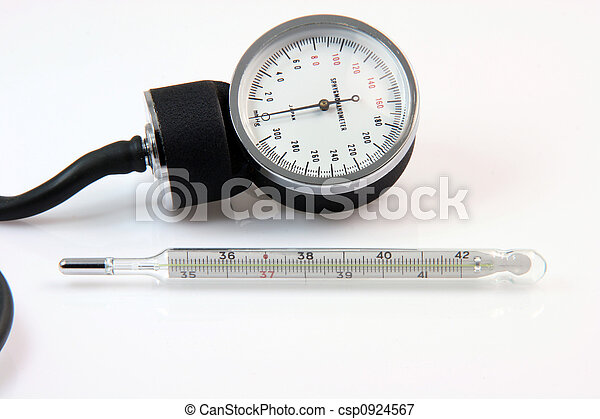 thermometer and sphygmometer