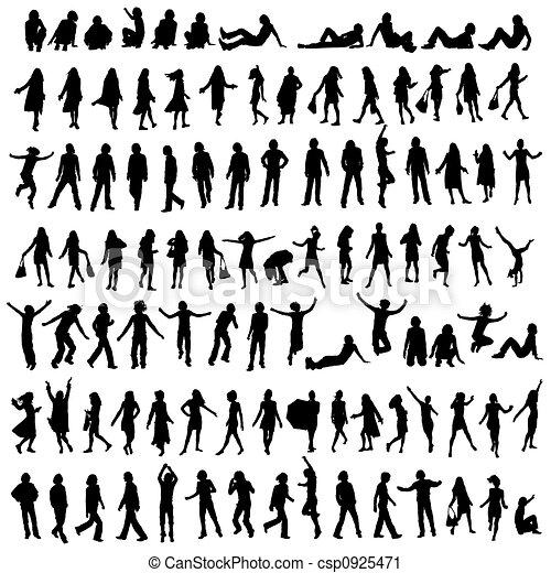 100 silhouettes - csp0925471