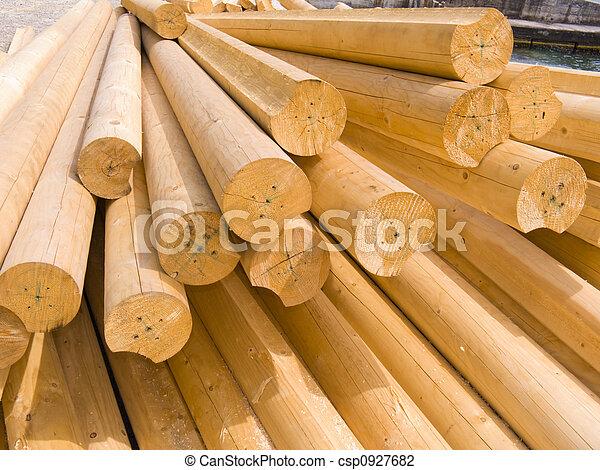 Stock fotos de redondo de madera troncos construcci n for Antecomedores redondos madera