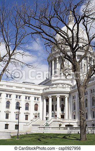 国会議事堂, 春 - csp0927956