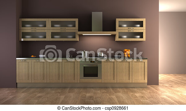 classic style kitchen interior - csp0928661