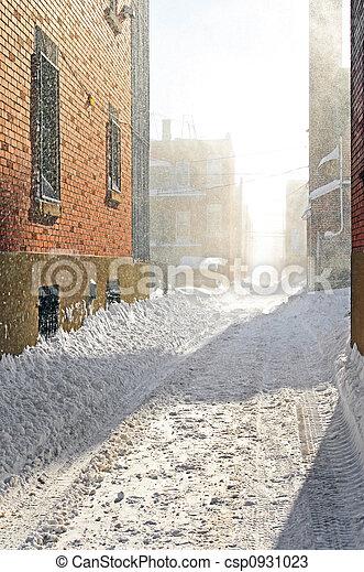 Snowstorm in the sunlight - csp0931023