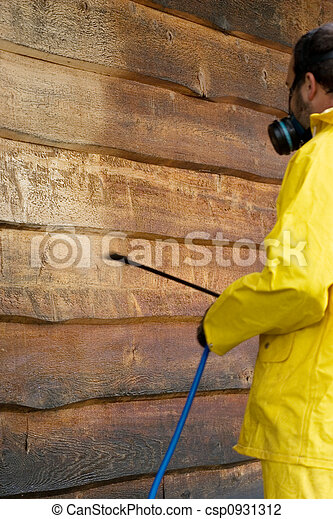Washing the Siding - csp0931312