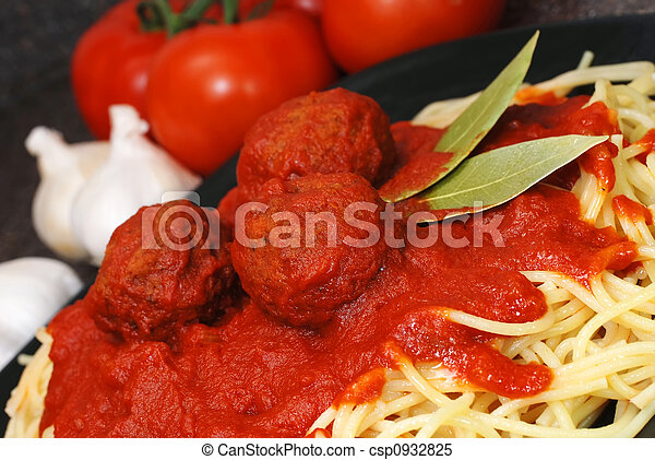 Spaghetti and Meatballs - csp0932825