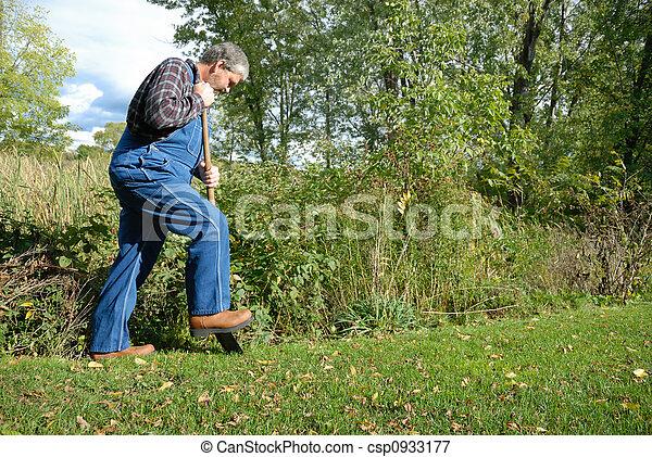 farmer digging - csp0933177
