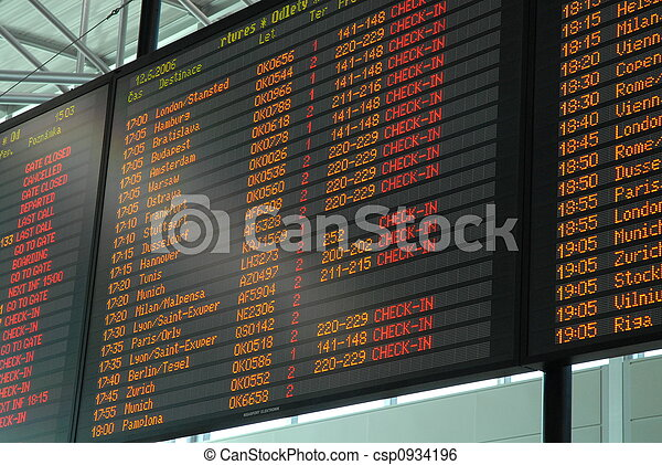 departure board - csp0934196