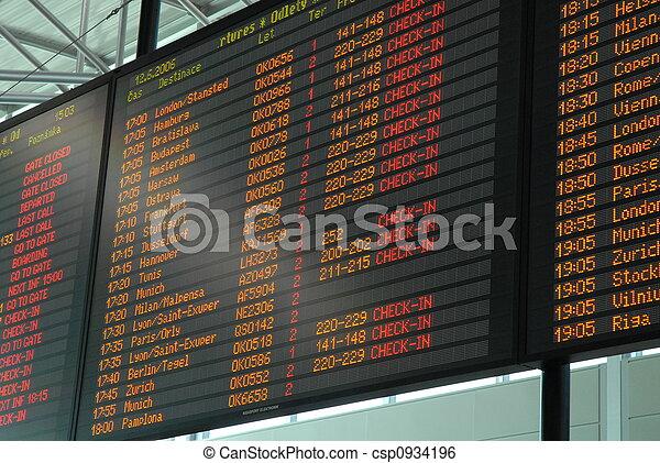 departure board - csp0934196