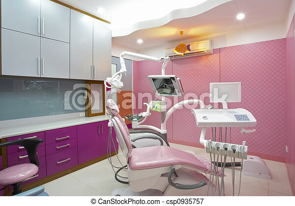Picture Of Dentist Clinic Panoramic View Of Interior Of Dental Office Csp0935757 Search