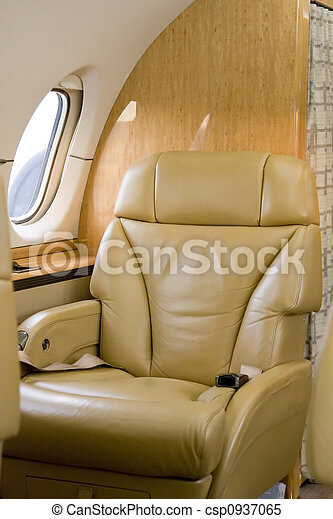 First Class Seat on Corporate Jet - csp0937065