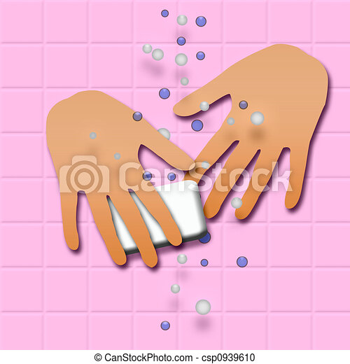 ... washing hands with soap... csp0939610 - Search Clipart, Illustration