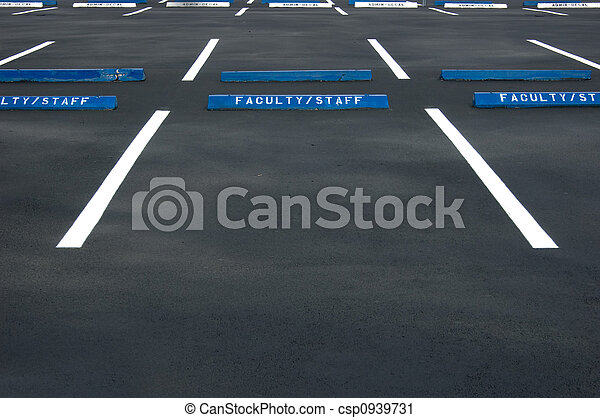 Empty parking lot - csp0939731