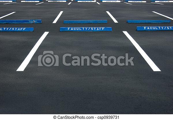 Empty parking lot - csp0939731