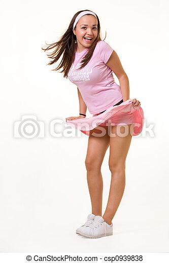 Wind blown skirt - csp0939838