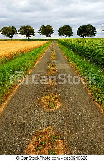 Road in rural France - csp0940620