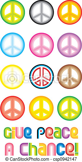 Peace Symbol - Give peace a chance - csp0942147