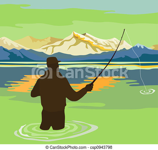 Fly fishing Stock Illustrations. 2,939 Fly fishing clip art images ...
