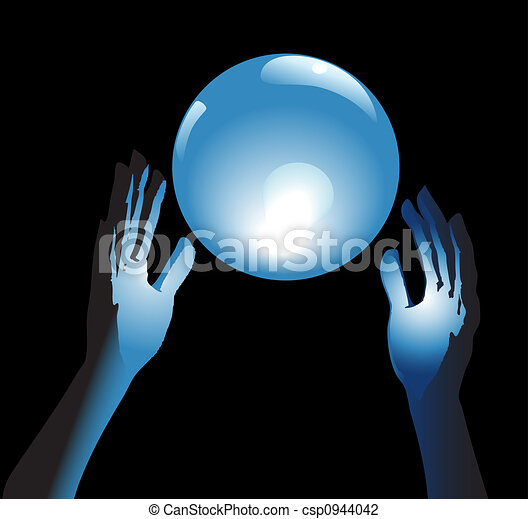 Crystal Ball Future in Hands - csp0944042
