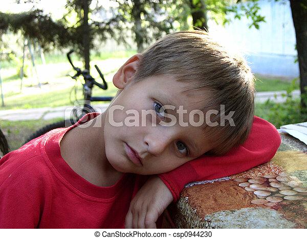 Boy summer melancholy - csp0944230