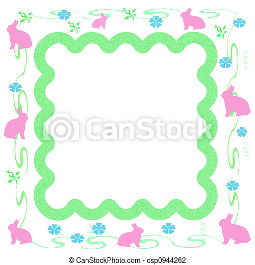 Easter bunny frame - csp0944262