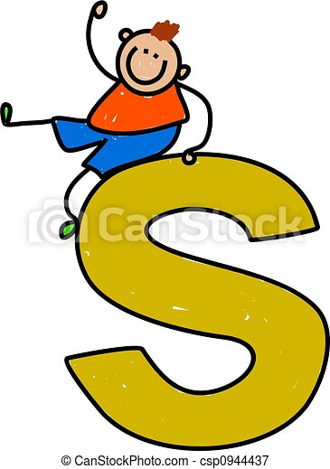letter S boy - csp0944437