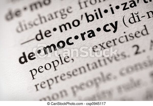 Democracy - csp0945117