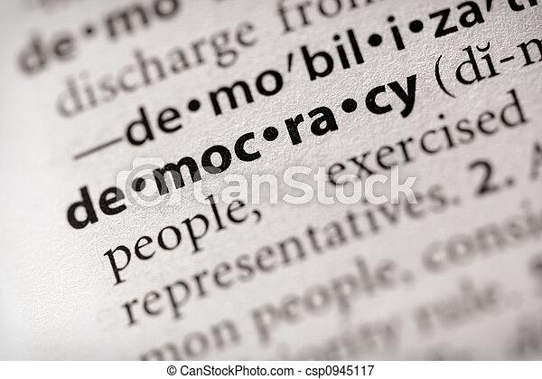 Democracy - csp0945117