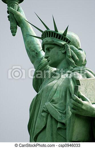 estátua, liberdade - csp0946033