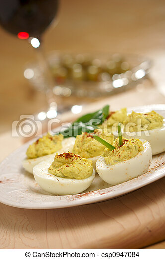 Deviled Eggs and Appetizers - csp0947084