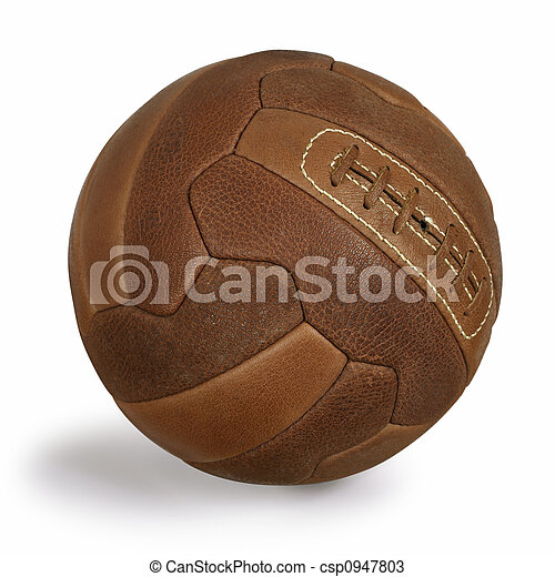 futebol,  retro, bola - csp0947803