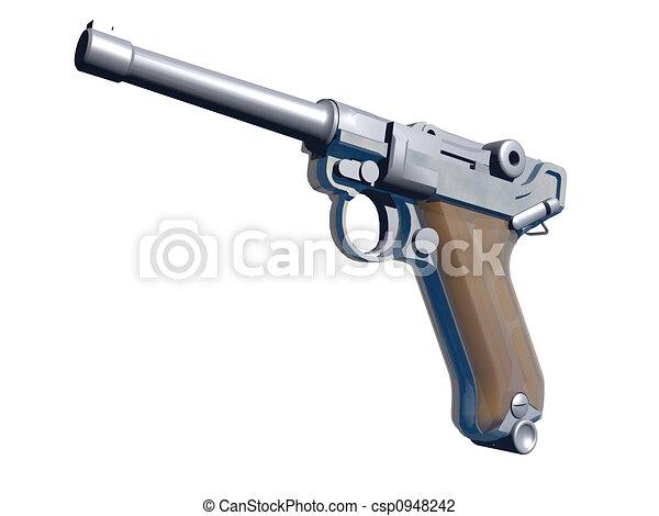 Clipart di bianco pistola digitale disegno 3d for Disegno 3d gratis