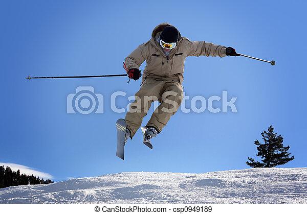 Skiing - csp0949189