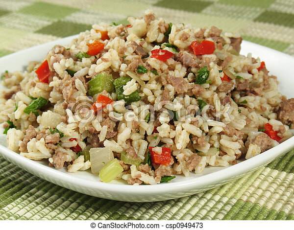 Plate of Dirty Rice - csp0949473