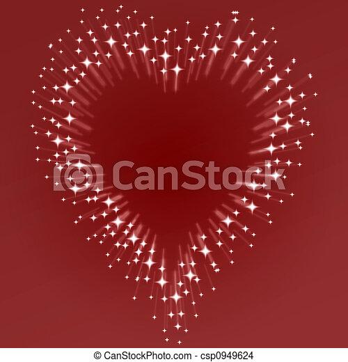 starburst heart - csp0949624