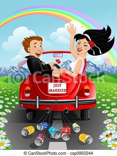 dessin de juste mari s couple dans voiture sur montagnes fond csp0950244 recherchez des. Black Bedroom Furniture Sets. Home Design Ideas