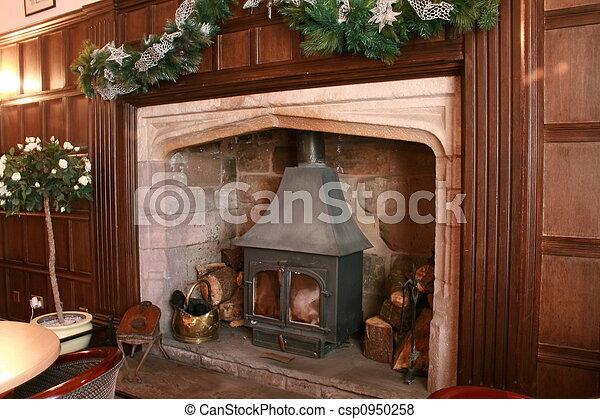 large fireplace - csp0950258