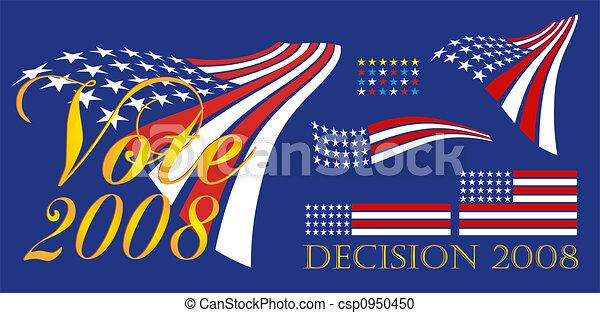 政治,  2008, 旗幟 - csp0950450