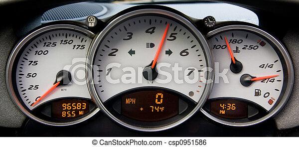 Sportscar Instrument Panel - csp0951586