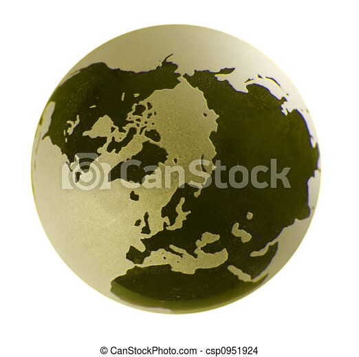 Glass Globe with yellow tint - csp0951924