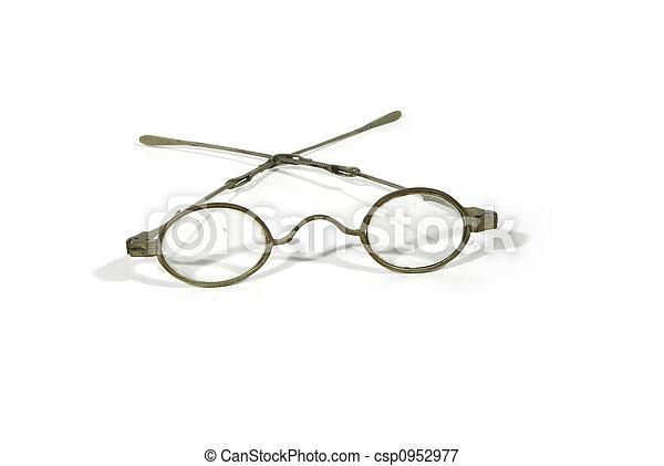 骨董品, 金属, ガラス - csp0952977