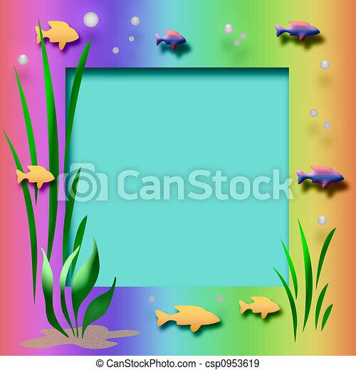 Illustration de cadre aquarium fish et usines cadre for Aquarium cadre