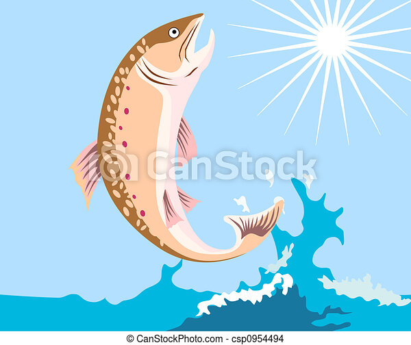 Leaping Trout - csp0954494