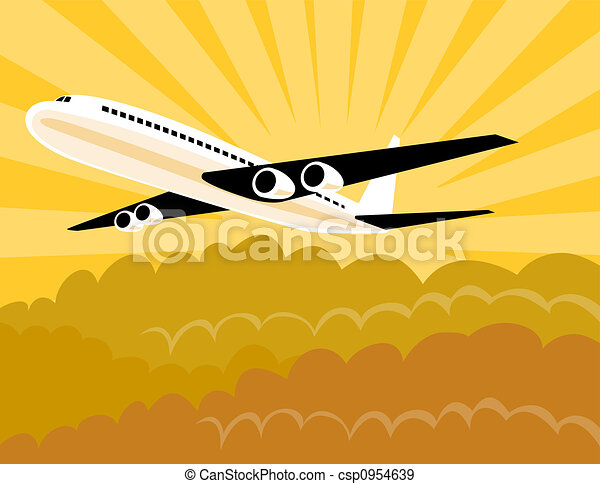 Airplane in flight - csp0954639