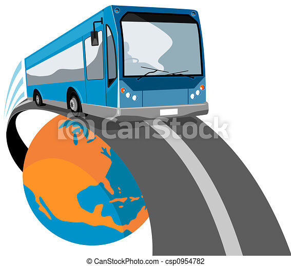 Bus coming off globe - csp0954782