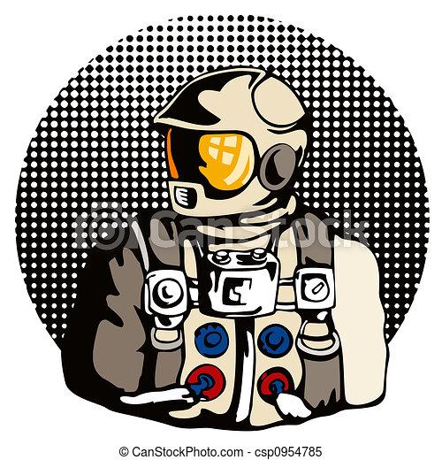 Stock Illustrations of Astronaut side profile - Artwork of ...
