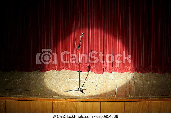 mic on stage - csp0954886